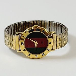 Authentic Gucci Stretch Band Watch Gold
